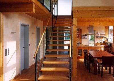 Fußboden und Treppenstufen