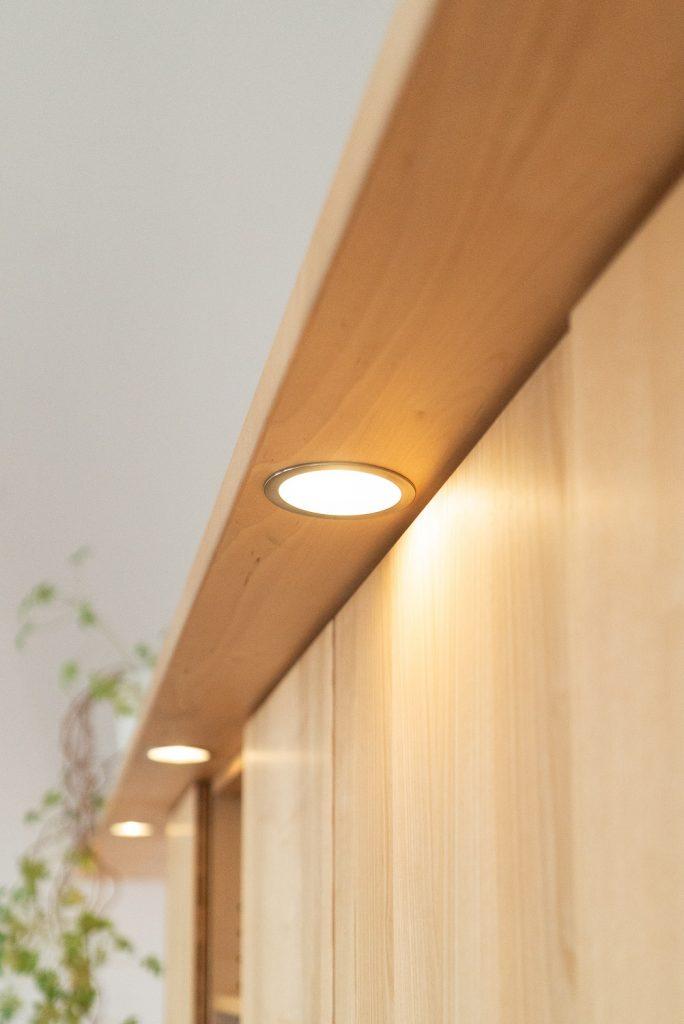 Eingesetze LED-Schrankbeleuchtung