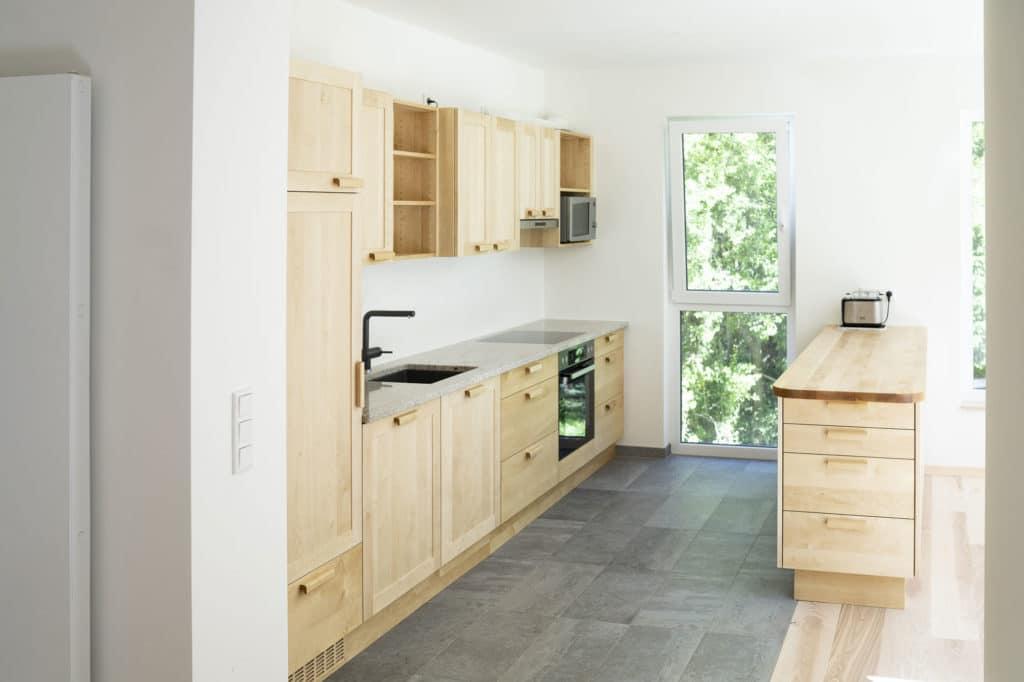 Massivholzküche, Birke, geölt und gewachst