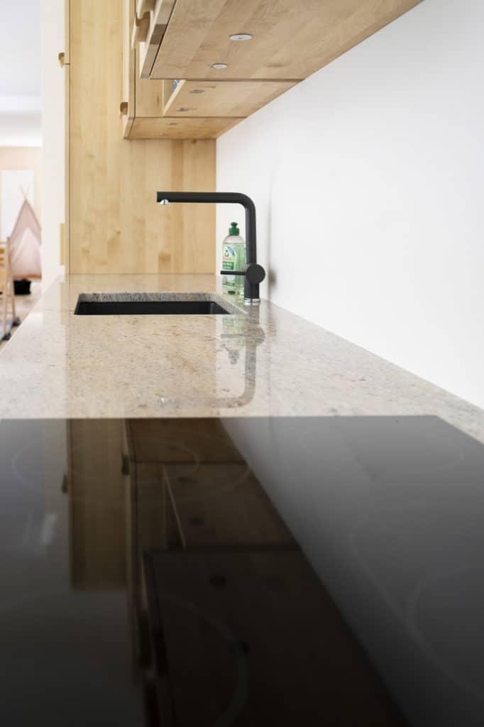 Birke-Massivholzküche, Granitarbeitsplatte
