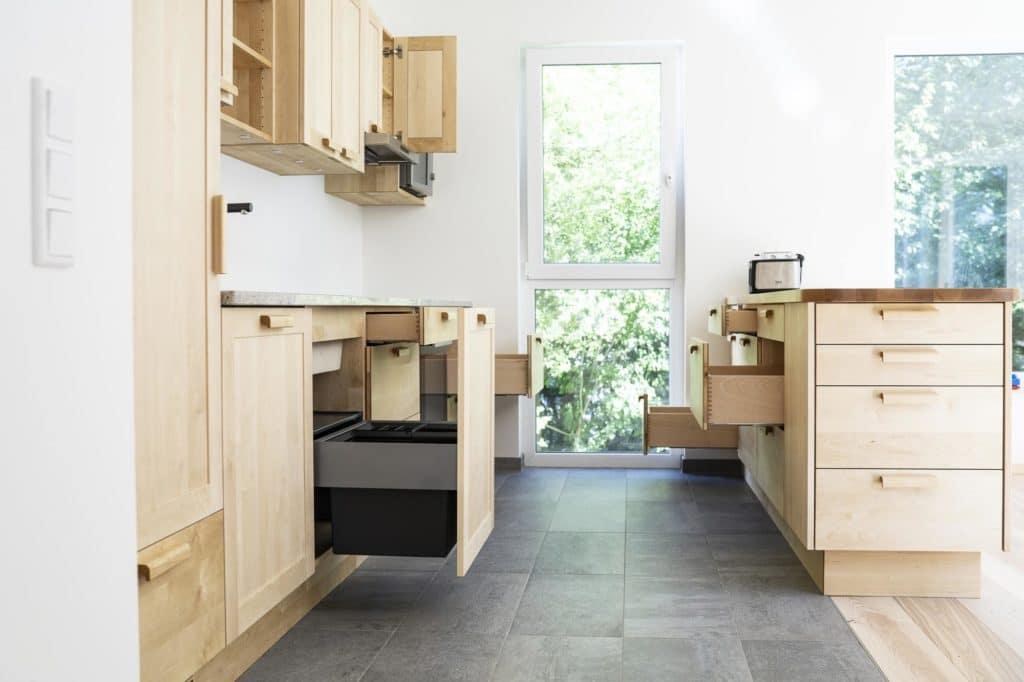 Birke-Massivholzküche, geölt und gewachst