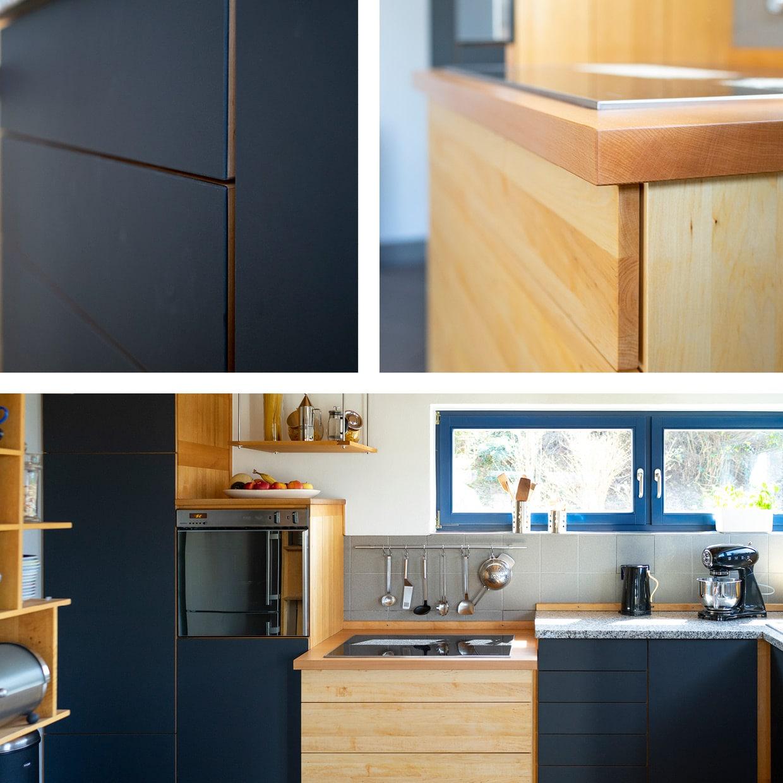 Küchen-Modernisierung mit Erle und Linoleum