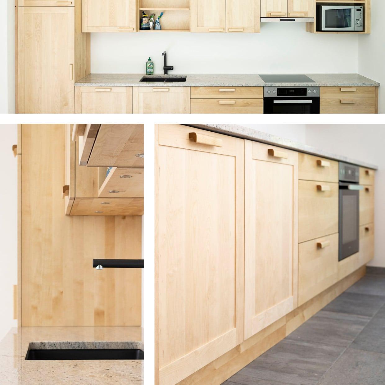 Massivholz-Küche aus Birke