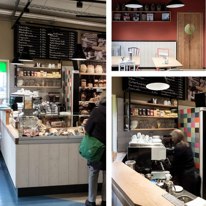 Bäckerei-Theke und Bistro-Einrichtung