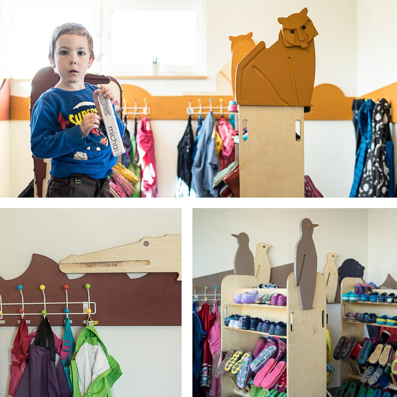 Montessori KiTa Gießen, Garderoben